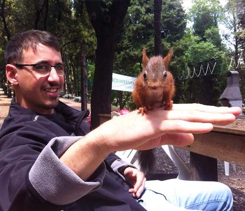 Lo scoiattolo CIP al parco avventura Genova Righi