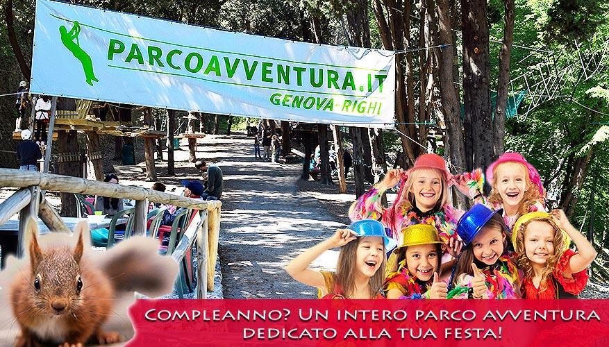 Festa di compleanno al Parco avventura Genova Righi